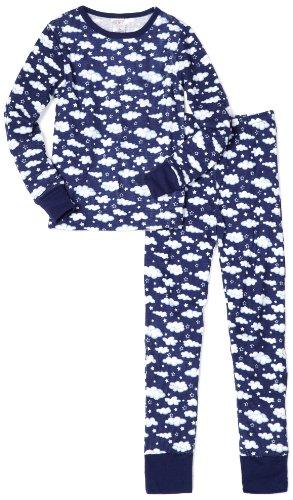 Little Girls Blue 2 Piece Thermal Sleepwear Set