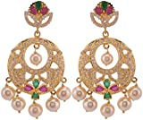 Violet & Purple Gold Plated Dangle & Drop Earrings For Women (1000031049)