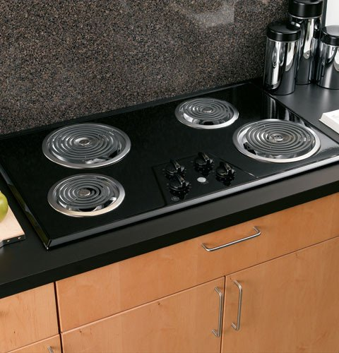 GE JP626BKBB 36 Electric Cooktop &#8211; Black