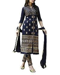 Surat Dream Women Cotton Dress Material (P401 _Blue _Free Size)