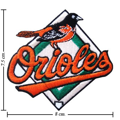 Baltimore Orioles Style-1 Embroidered Sew On Patch at Amazon.com