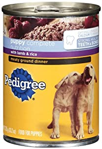 Pedigree Meaty Ground Dinner with Lamb & Rice Food for Puppies, 13.2-Ounce Cans (Pack of 24)