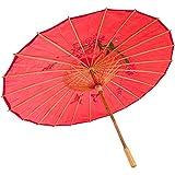 JapanBargain Oriental Parasol 32-Inches, Red