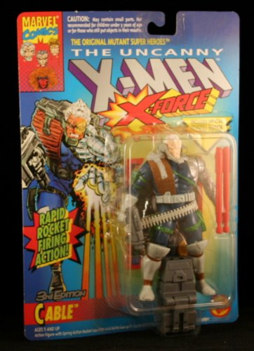 Buy Low Price Toy Biz 3RD EDITION CABLE with RAPID ROCKET FIRING ACTION The Uncanny X-Men X-Force Action Figure & Official Marvel Universe Trading Card (B0042RJ7XI)