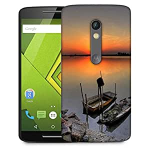 Snoogg Ship Sunset Designer Protective Phone Back Case Cover For Moto G 3rd Generation