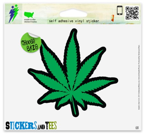 Cannabis Weed Marijuana Hemp Vinyl Car Bumper Window Sticker