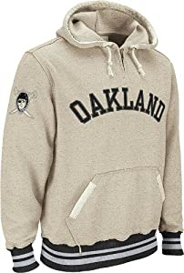 Oakland Raiders Reebok Vintage Ash 1 4 Zip Throwback Hooded Sweatshirt by Reebok