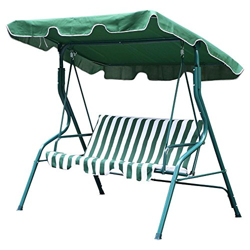 Yaheetech 3 Person Covered Patio Outdoor Porch Swing with Frame 550Lb Capacity