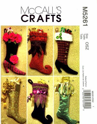 Christmas stocking pattern (PDF) | Free ~ Sewing Patterns