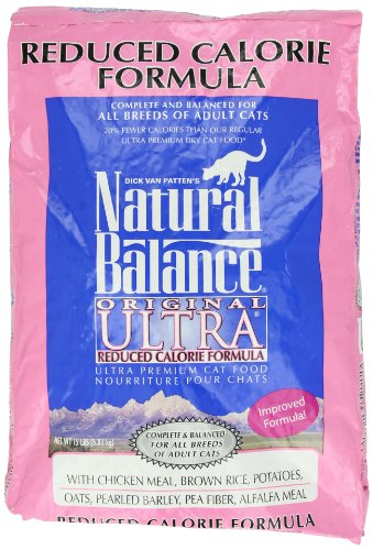 Image of Natural Balance Dry Cat Food, Reduced Calorie Formula, 15 Pound Bag