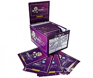 Panini Euro 2012 Sticker Collection 100 Packet Box