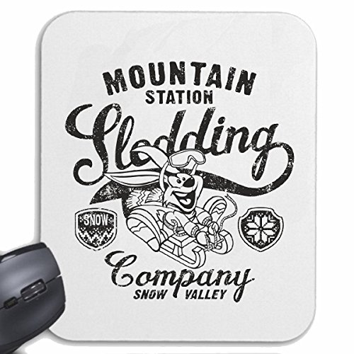 tapis-de-souris-mousepad-mauspad-mountain-station-traineau-company-snow-valley-sled-lapin-lapin-life
