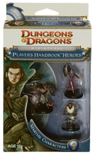D&D Dungeon and Dragons Player's Handbook Heroes Miniatures Martial Characters 4
