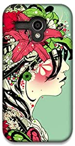 The Racoon Lean Jungle trends hard plastic printed back case / cover for Moto G (1st Gen)