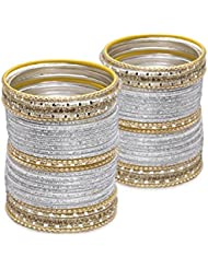 Cut Two Ways: Twin Set- Silver Lacquer Wedding Bangles For Women