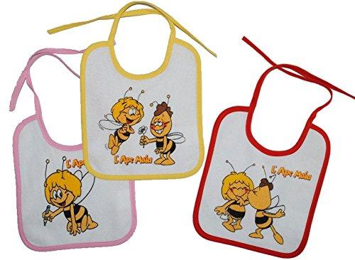 1-Stk-Babyltzchen-KLEIN-Biene-Maja-Willi-aus-weichem-Frottee-Unten-mit-extra-Folie-beschichtet
