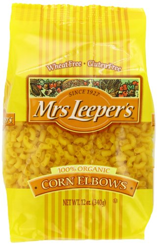 Mrs. Leeper's Pasta Organic, Corn Elbows, 12-Ounce Bags (Pack of 12) (Mrs Leepers Corn compare prices)