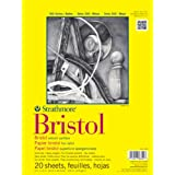 Strathmore Bristol Vellum Paper Pad, 9 by 12-Inch, 20 Sheets