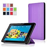 Fire HD 6 Case - Exact Amazon Fire HD 6 Case [SLENDER Series] - Ultra Slim Lightweight Smart-Shell Stand Case for Amazon Kindle Fire HD 6 (2014) Purple