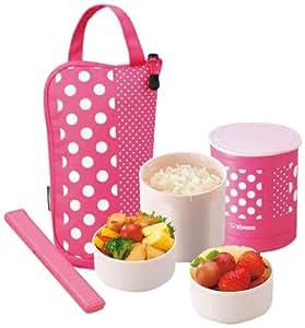 zojirushi sz ja02pa mini bento lunch jar pink bento boxes kitchen dining. Black Bedroom Furniture Sets. Home Design Ideas