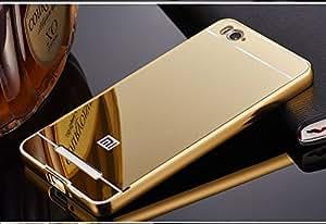Xiaomi Mi 4i Back Cover Metal Mirror Bumper Golden Back case Cover by DRaX®