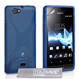 Yousave Accessories Miro Silicone X-Line Gel Case for Sony Xperia - Blue