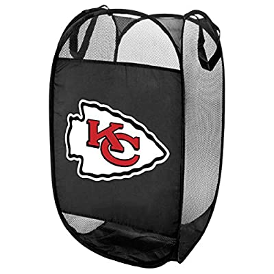 Kansas City Chiefs Official NFL Laundry Hamper Fold Up Flip Open by Forever Collectibles 050001
