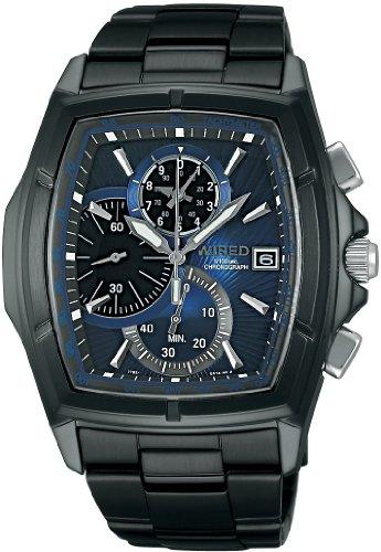 [ワイアード]WIRED 腕時計 NEW STANDARD MODEL ニュースタンダード モデル 1/100秒 クロノグラフモデル AGAV048 メンズ
