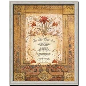 In The Garden by John Hopper 16x20 Decorative Old World Style Fine Art Print Framed