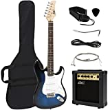 Full Size Blue Electric Guitar with Amp, Case and Accessories Pack Beginner Starter Package (Electronics)