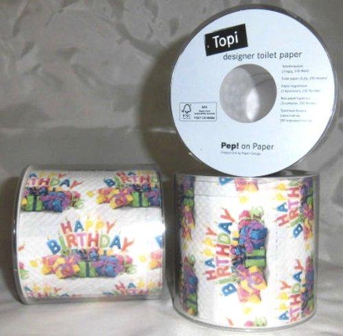 1 st ck lollipop 39 happy b day 39 toilettenpapier rolle 3. Black Bedroom Furniture Sets. Home Design Ideas