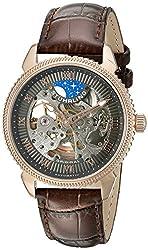 Stuhrling Original Men's 835.04 Special Reserve Analog Display Quartz Brown Watch