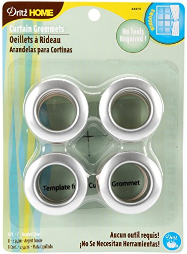 Check Out This Dritz 44373 Curtain Grommets, Satin Nickel, 1-Inch, 8-Pack