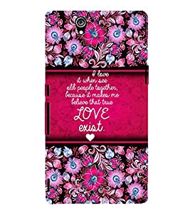 Love Exist Quote Cute Fashion 3D Hard Polycarbonate Designer Back Case Cover for Sony Xperia Z :: Sony Xperia C6603 :: Sony Xperia C6602 :: Sony Xperia Z LTE, Sony Xperia Z HSPA+