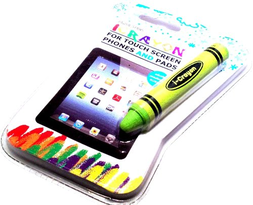 SANOXY® Digital Kids Crayon Stylus for Touch Screen iPhone Android Tablet iPad/iCrayon fun stylus for writing, drawing and gaming (GREEN)