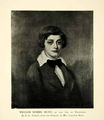 1923 Print William Morris Hunt Teenager Child Portrait Boy Young Tarbell Bowtie - Original Halftone Print