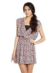 Remanika Women's A-Line Dress (FR-GAVIN2_Pink_L)