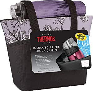 Thermos Raya 3-Piece Lunch Cooler Set, Purple