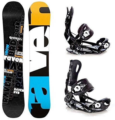 Snowboard Set: Snowboard Raven RVN Black Rocker + Bindung Raven Fastec FT270 Black L