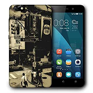 Snoogg Broadway Printed Protective Phone Back Case Cover For Huawei Honor 4X