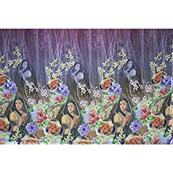 Triveni CREPE Fabrics (TSFD001_MUDGOLD)