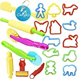 Caryko Smart Dough Tools Kit with Models and Molds, Set of 20 PCS, Trees and Animals