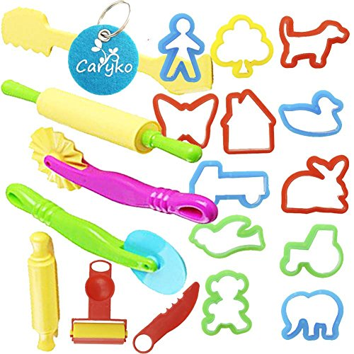 Carykon Smart Dough Tools Kit with Models and Molds, Set of 20 PCS, Trees and Animals (Alex Dough Tools compare prices)