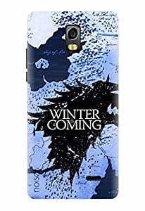 Noise Designer Printed Case / Cover for Lyf Water 10 / Patterns & Ethnic / Winter Coming Design