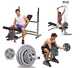 Body Solid Olympic PowerCenter Combo Pack And 300 lb Olympic Set