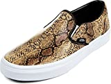 Vans - Unisex Classic Slip-On Shoes in (Leather/Snake) Gold