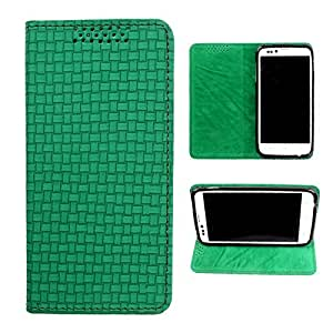 DooDa PU Leather Flip Case Cover For Micromax Canvas Doodle A111 (Green)
