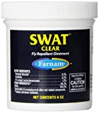 Farnam SWAT Fly Repellent Ointment for Horses, Clear Formula, 6-Ounce