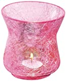 Borosil Sparkle Tea Light, 10.5cm, Pink