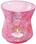 Borosil Sparkle Tea Light, 10.5cm, Pink